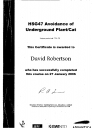 David Robertson's HSG 47 - Avoidance of underground plant/cat - training certificate